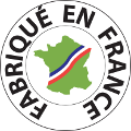 Dalle Lisse Patinée 50 x 50 x 2,3 cm Blanc Fabriquée en France